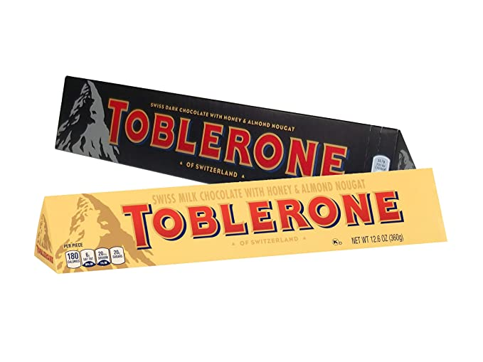 Toblerone 2 Pack 360g Each Milk Chocolate Dark Chocolate