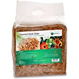 Envelor Home and Garden 10 lbs. Natural Coco Coir Husk Chips Coconut Coir Fiber Mulch Hydroponics Growing Medium Orchids Potting Soil Mix Indoor Outdoor Raised Vegetable Garden Beds Greenhouses