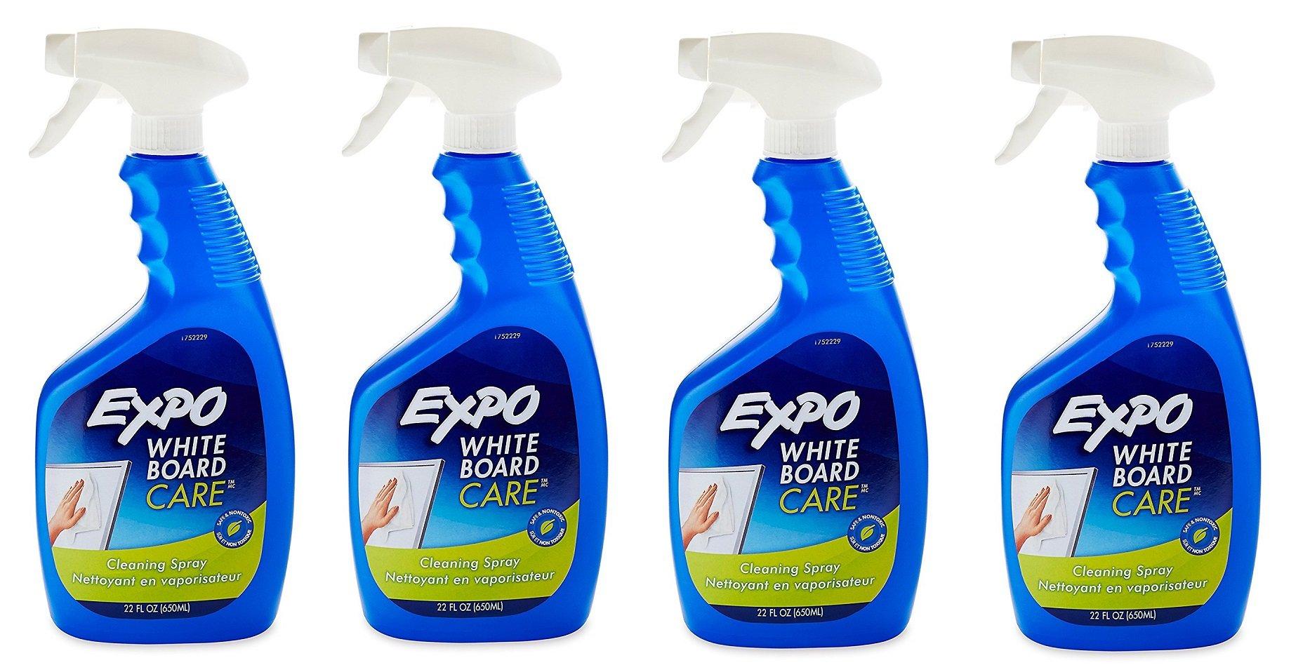 EXPO Whiteboard / Dry Erase Board Liquid Cleaner NqKPcH, 22, Oz (4 Bottles)