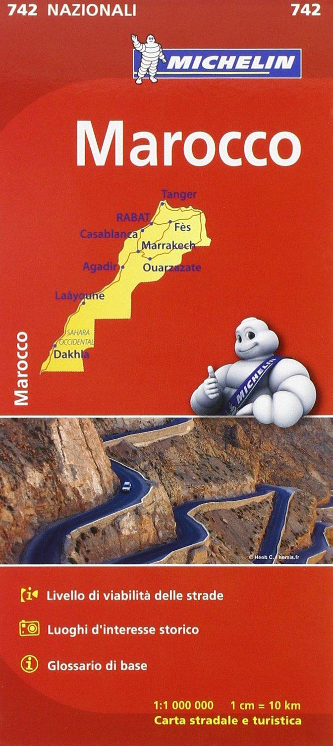 Cartina Geografica Italia Michelin.Amazon It Carta Marocco Libri