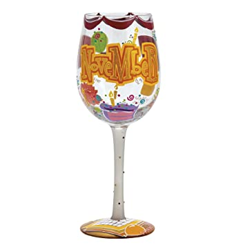 Lolita Cumpleaños mes vino abridor de botella de cristal con Westwood Gourmet Happy November: Amazon.es: Hogar