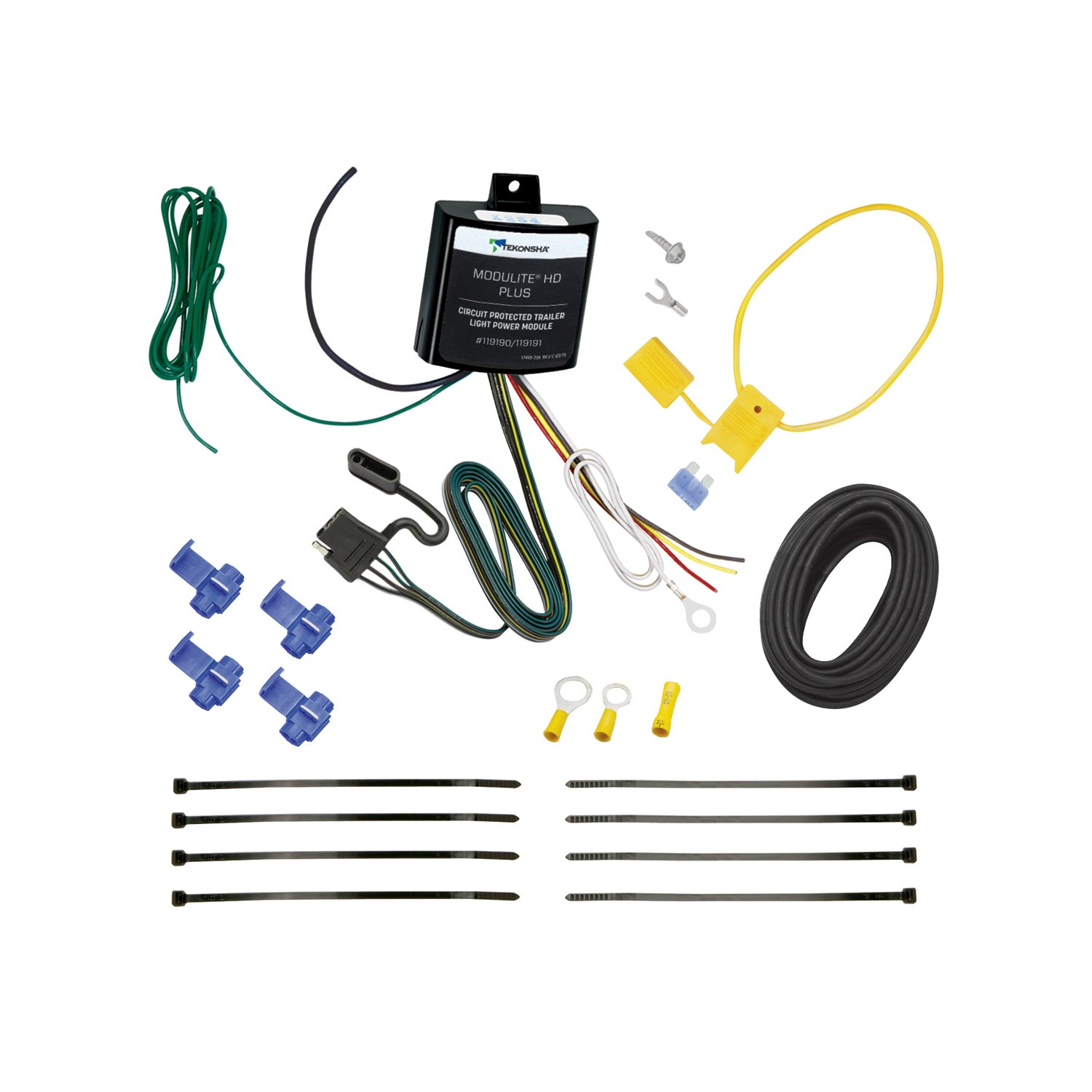 Tekonsha 119191 Modulite Hd Plus Protector With 2009 Bmw X5 Trailer Wiring Harness Integrated Circuit And Overload Protection Light Power Module Kit Automotive