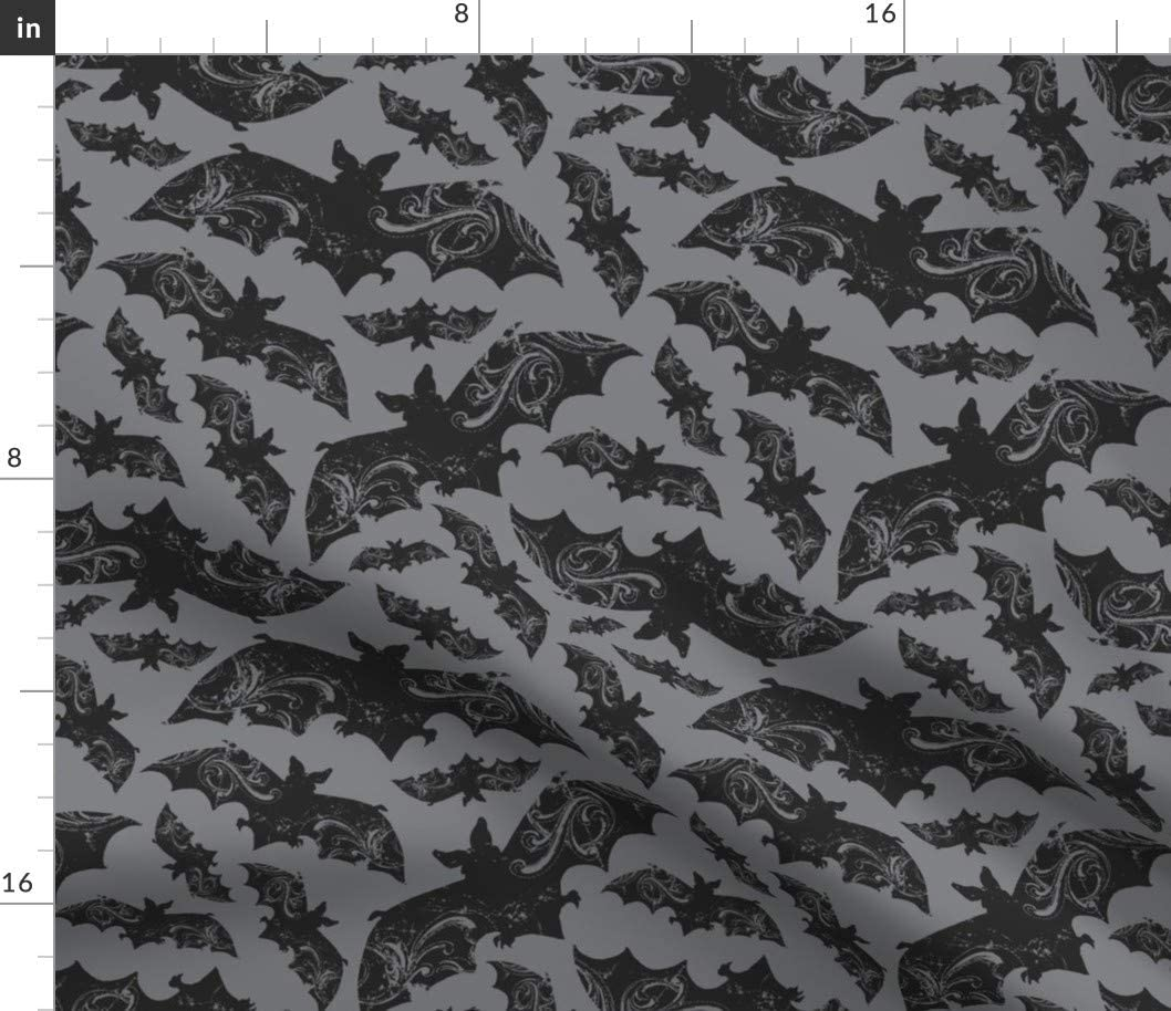 c30375 14 bats on a grunge purple by Basic Grey Eerie Wicked cut by the yard