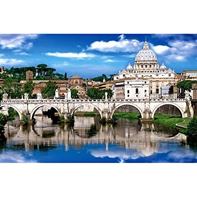 1000 Pieces St. Peter's Cathedral Jigsaw Landscape Jigsaw Puzzle Paper Beautiful Scenery Puzzle for Gift: Toys & Games