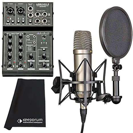 RODE NT1-KIT Studio Großmembran Kondensator Mikrofon mit Spinne und Popschutz