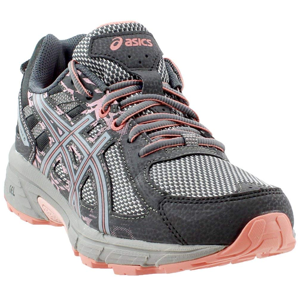 ASICS Gel-Venture 6 Women's Running Shoe, Carbon/Mid Grey/Seashell Pink, 5 M US