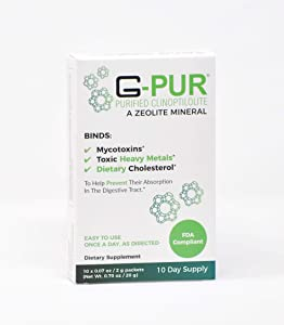 G-PUR Purified Clinoptilolite, A Zeolite Mineral, Trial Pack (10 -2 Gram sachets)