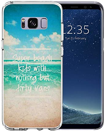 274737cc830b9d Case for Galaxy S8 Thin - Topgraph  Rubber Slim Fit Clear Full Coverage   Compatible