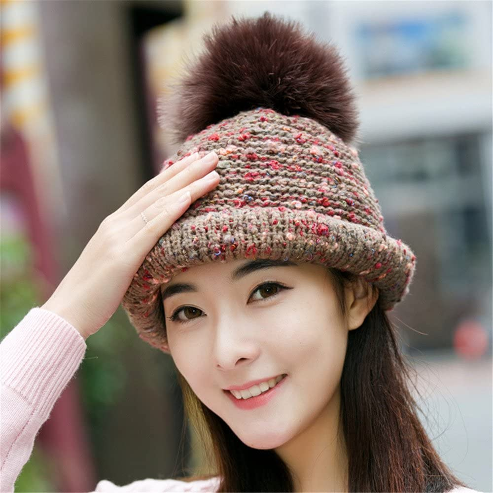 Amazon Com Btbtav A Woman S Hat And Female Autumn And Winter Hat Knitted Hat Cute Hand Basin Cap Fisherman Hat Curling Hair Ball Ball All Match M 56 58cm Hongka Home Kitchen