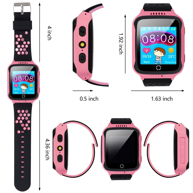 Amazon.com: Jsbaby Kids Smart GPS Watch 1.44 inch Touch Smartwatch GPS Kid Tracker Children Girls Boys Birthday Gift Camera SIM Calls Anti-Lost SOS GPS ...