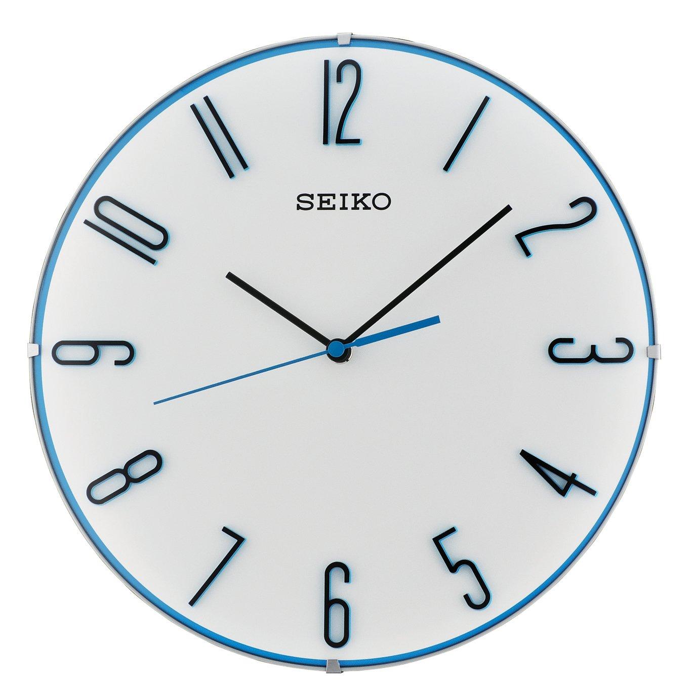 Seiko Unisex Wanduhren Kunststoff Blau QXA672W