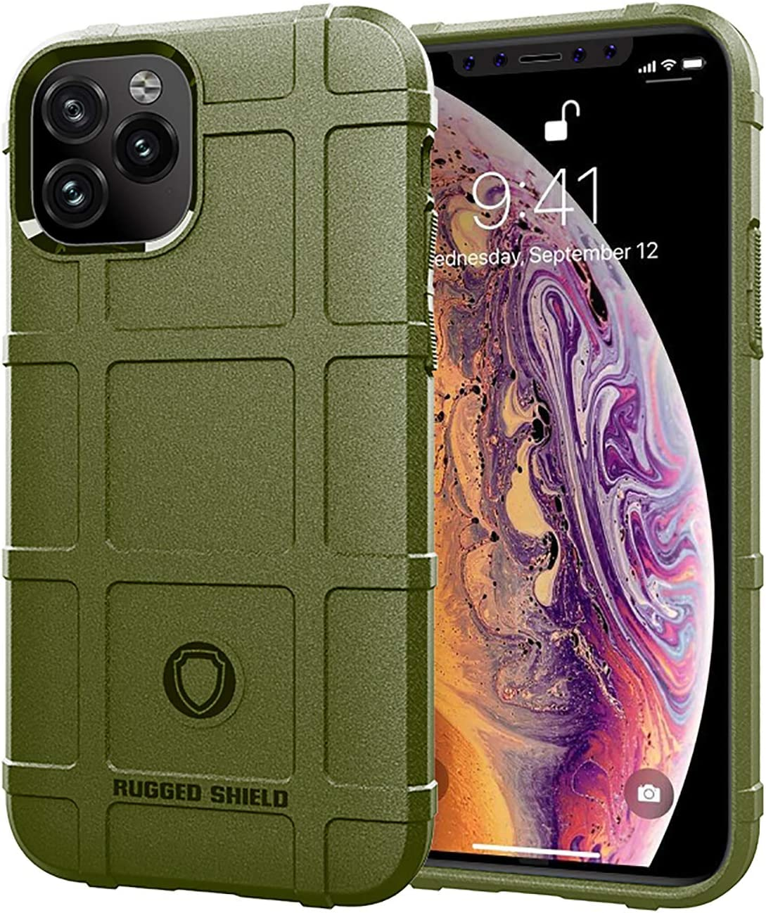 niter for iPhone 11 Case Green Ultra Thin Slim Rubber Gel Soft TPU Thick Shield Solid Armor Tactical Cover (iPhone 11, Green)