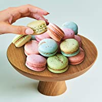 Round Elevated Wood Cake Stand Mini, Cake Pedestal Stand Round, Cake Display Stand For Birthday Cake, Wedding Cake, Wood Serving Platter, Wooden Appetizer Serving Tray For Parties