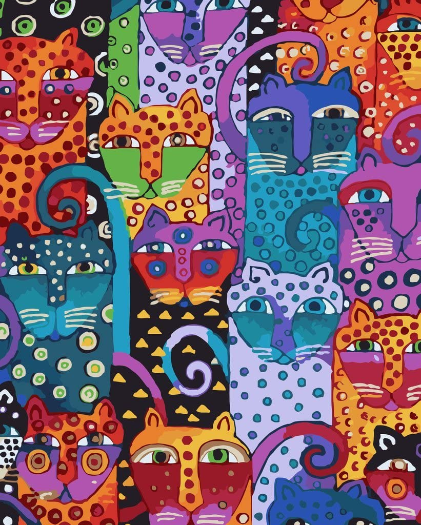 YEESAM ART Nueva Pintura para números para Adultos y niños - Animales Colección 40x50cm en Lino - Pintura Digital de Bricolaje por Kits de números sobre Lienzo