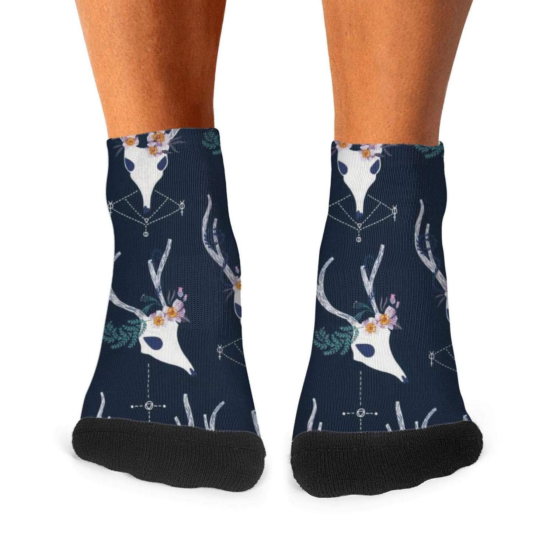 Mens Athletic Low Cut Ankle Sock Dear Stella Magik Deer Short Fit Sock