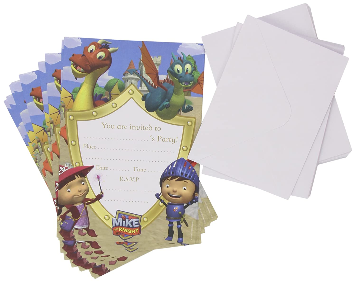 Amazon.com: Mike the Knight 20pc Character Party Invitations ...