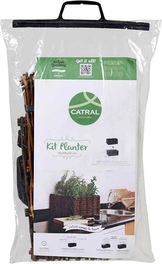 Catral 71080001 - huerto urbano kit planter, 30 x 40 x 20 cm ...