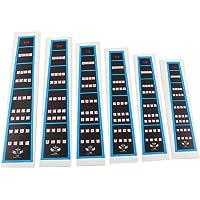 Timiy 6Pcs Violin Practice Fingerboard Sticker Fret Finger Guide Marker Chart 1/4 3/4 4/4 1/2 1/8 1/10