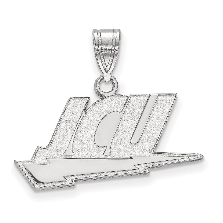 925 Sterling Silver Rhodium-plated Laser-cut John Carroll University Large Pendant