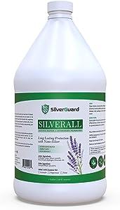 SilverAll Enhanced Hydrogen Peroxide Gallon + Active Colloidal Silver | Long-Lasting Protective Silver Shield, Food Grade Hydrogen Peroxide Cleaner | 1 Gallon Lavender