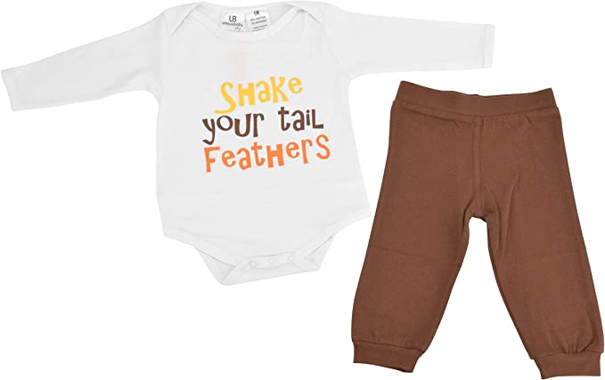 Unique Baby Unisex My First Thanksgiving Layette Set with Cap
