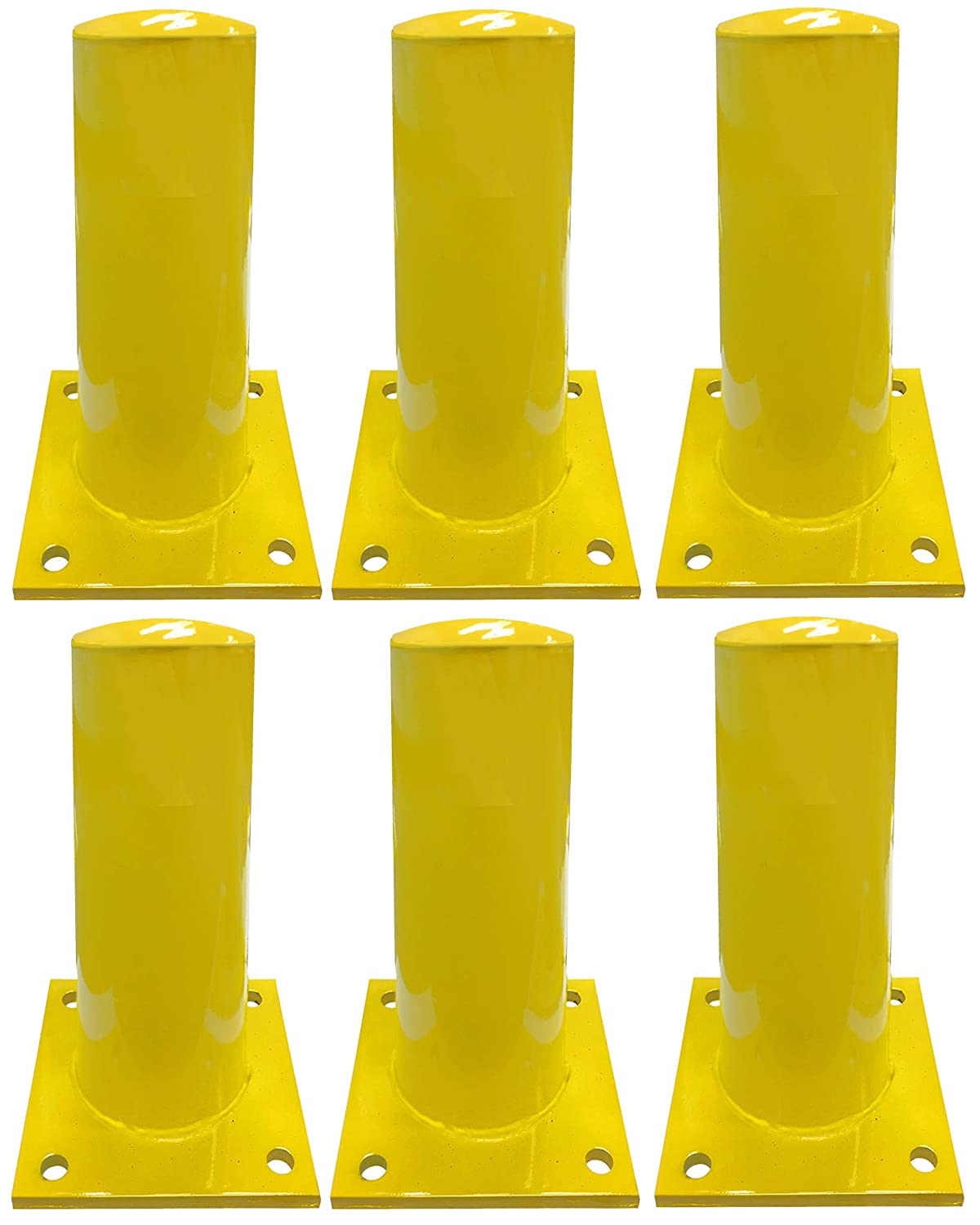 - Pack of 2 36 Height - 4.5 OD Electriduct 3 Feet Steel Pipe Safety Bollard Post Yellow Parking Lot Traffic Barrier