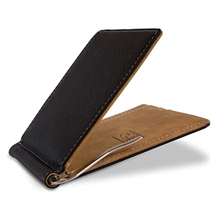 a90226b0a0cd BeGentleman Ultra-Thin Wallet with Money Clip for Men Credit Card Holder 4  Slots Travel