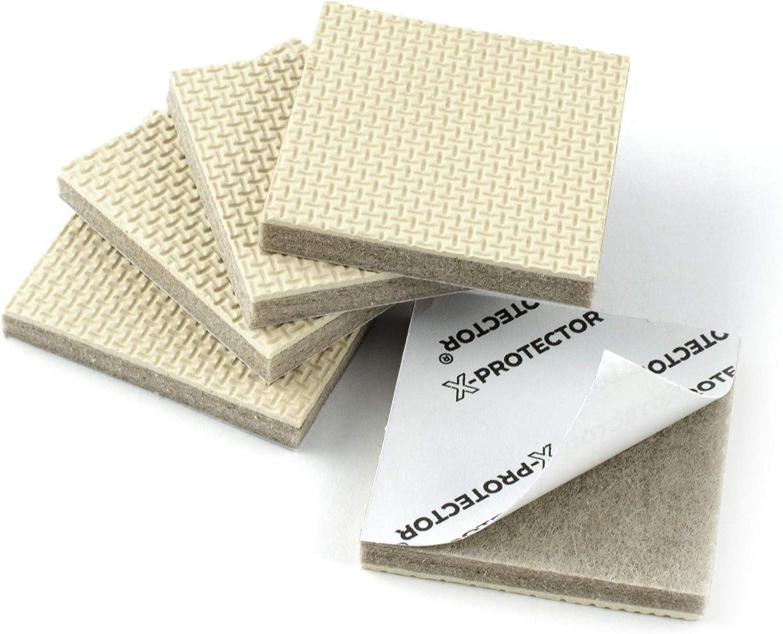 X-PROTECTOR Cuscinetti antiscivolo per mobili piedini in gomma per mobili ideali per mantenere in posizione i mobili. ottima protezione per pavimenti 16 pezzi 50mm