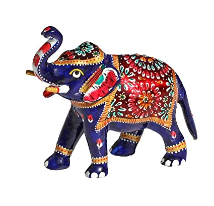 Amazon Souvnear 64 Inch Trunk Up Elephant Statue With White