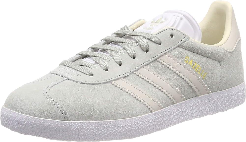 adidas Womens Gazelle Nubuck Ash Silver