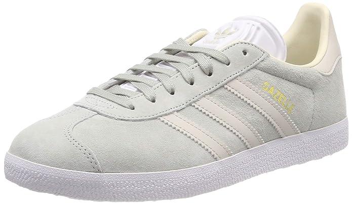 adidas Damen Gazelle Sneaker hellgrün mit weißen Streifen
