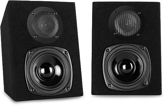 2-Voies, avec Fil, Terminal, 40 W, 100-20000 Hz, Noir Hauts-parleurs Auna ST-2000 40W Noir Haut-Parleur
