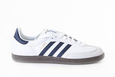 Adidas Samba White Navy Blue G19472 Boys Casual Trainers  Amazon.co ... 6b52ad822