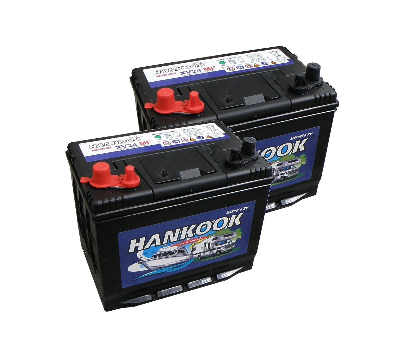 2 x Hankook 88Ah nevera a batería de ciclo profundo, 12 V 570CCA ...