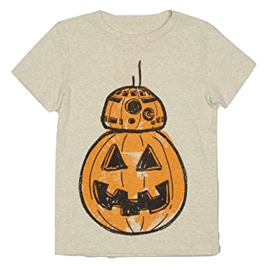 6a958216 Amazon.com: Toddler Boys Star Wars BB-8 Pumpkin Halloween Shirt ...