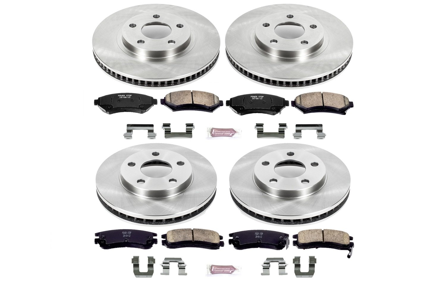 Autospecialty KOE2556 1-Click OE Replacement Brake Kit Power Stop