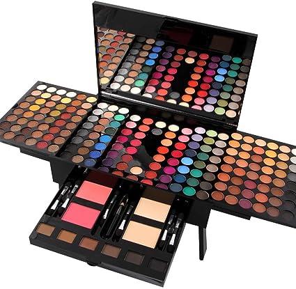 Paleta de sombras de ojos, de Moresave, con forma de piano, 180 colores, para mujeres, caja profesional de maquillaje: Amazon.es: Belleza