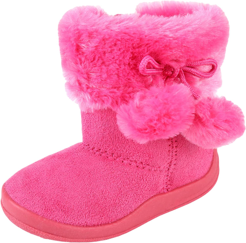 Urban Kit Footwear Girls' Pom Pom Boots