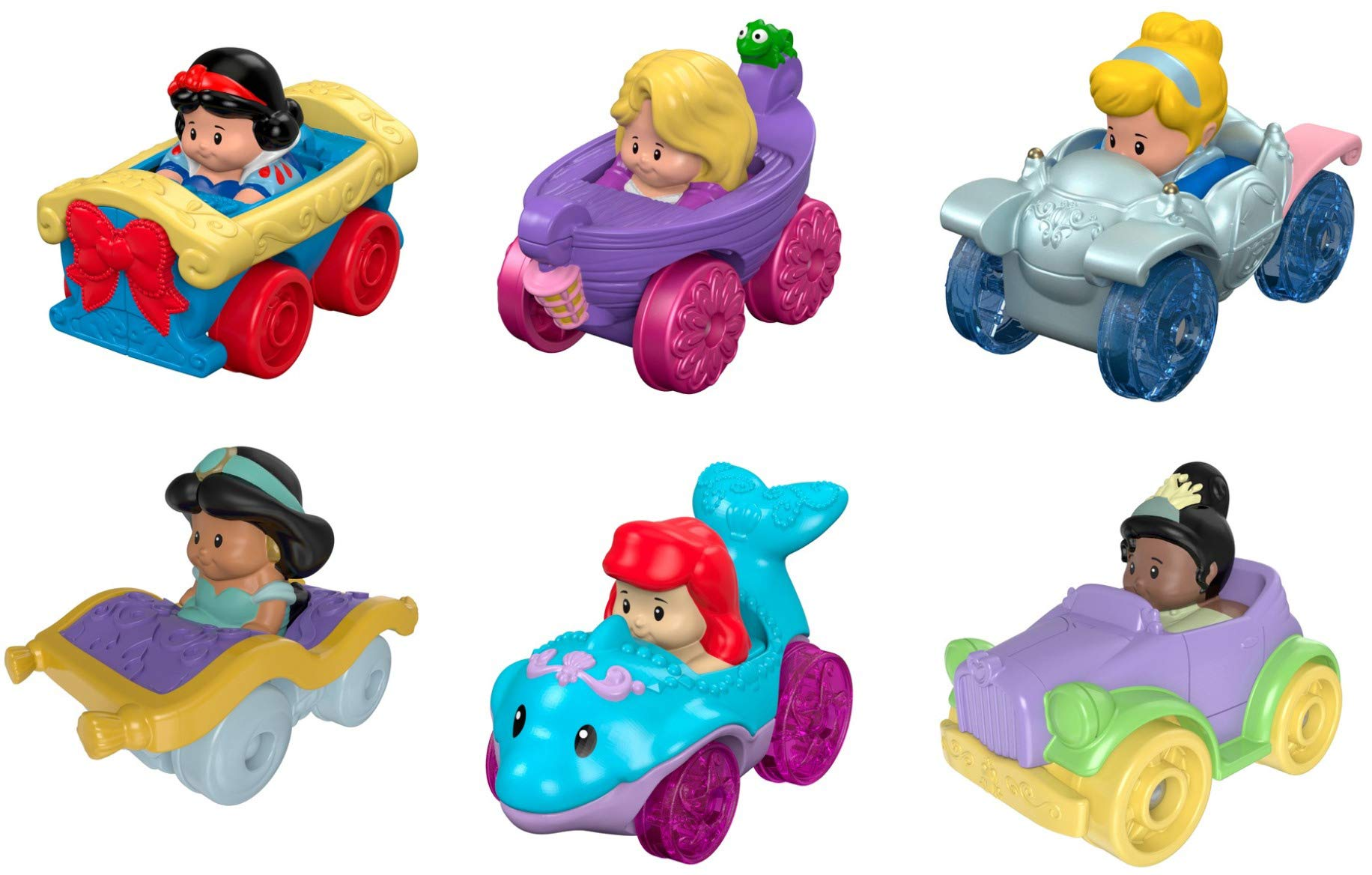 Fisher-Price Little People Disney Princess, Wheelies Gift Set (6 Pack) [Amazon Exclusive] (Limited Edition)