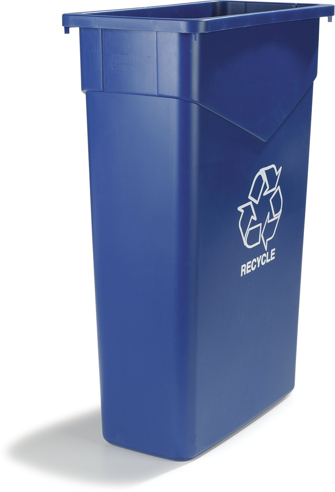 Carlisle 342023REC14 TrimLine LLDPE Recycle Can, 23 Gallon Capacity, 20'' Length x 11'' Width x 29.88'' Height, Blue