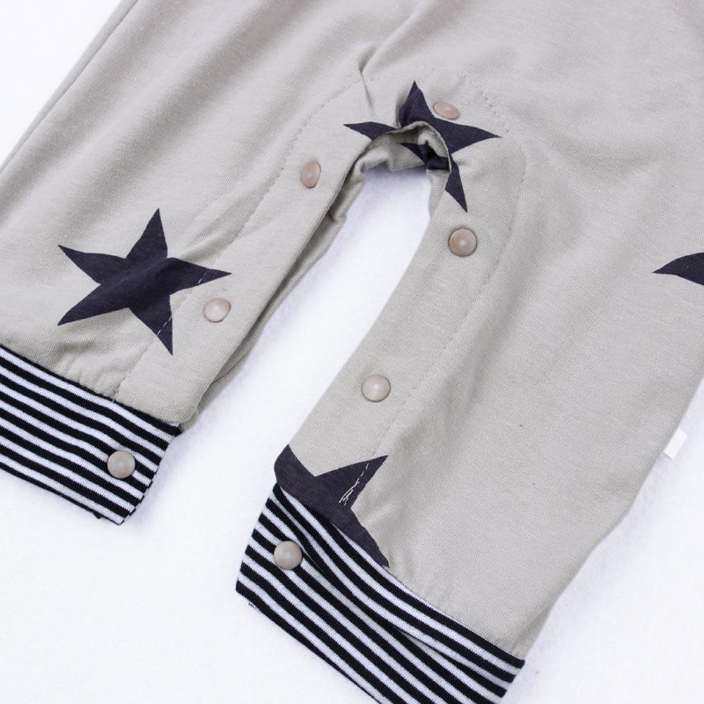 JoJody 3PCs V/êtements B/éb/é Ensemble /à Manches Longues Salopettes B/éb/é Gar/çon Fille T-Shirt /à Rayures Casquette