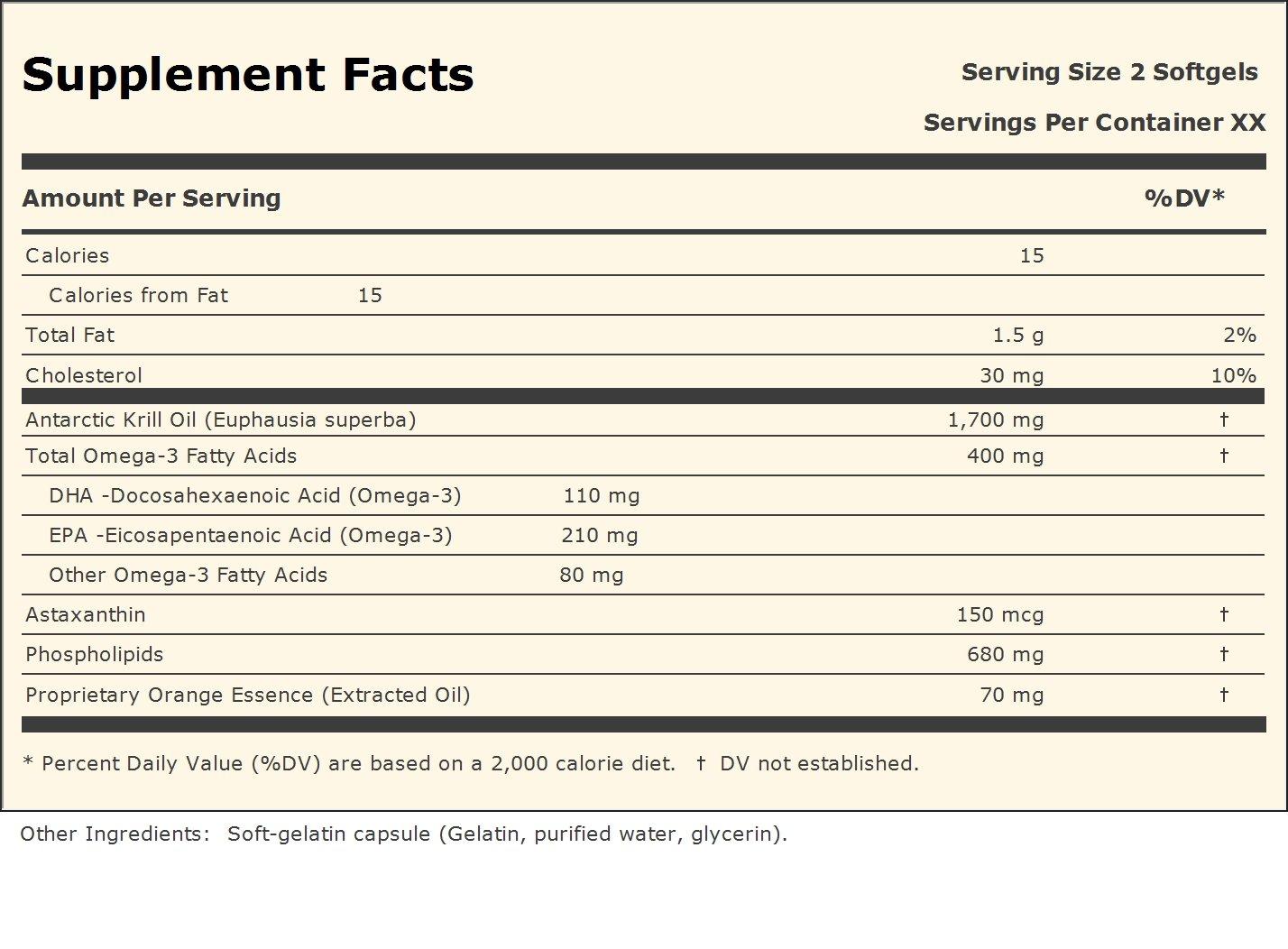 Andrew Lessman Ultimate Krill Omega-3, 60 Softgels