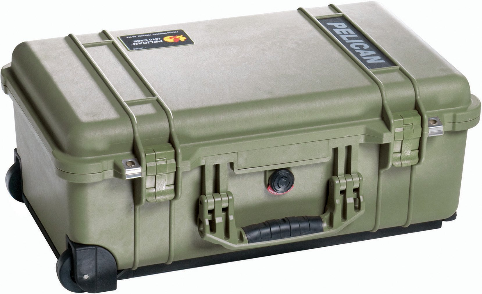 Pelican 1510 Case With Padded Dividers (OD Green) by Pelican