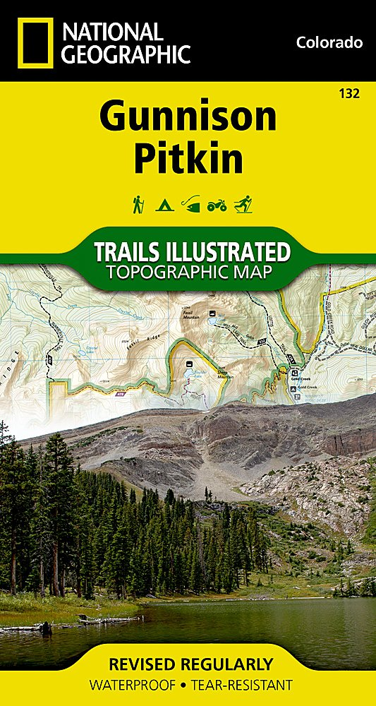 Gunnison / Pitkin: National Geographic Trails Illustrated Colorado (National Geographic Trails Illustrated Map Band 132)