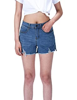 Clothing, Shoes & Accessories Impartial Womens Size 8 New Look Denim Shorts High Wasted Summer Shorts