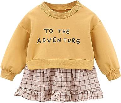 MAYOGO Mini Vestido Bebe niña Otoño Manga Larga 12 Meses Ropa ...