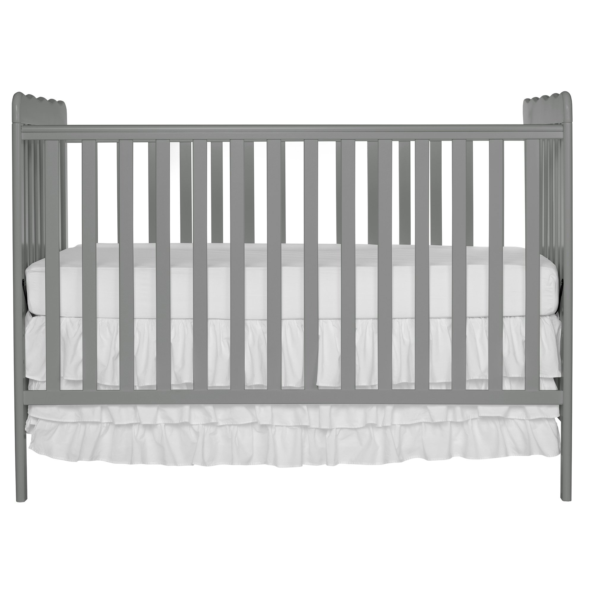 Dream On Me Carson Classic 3 in 1 Convertible Crib, Steel Grey by Dream On Me