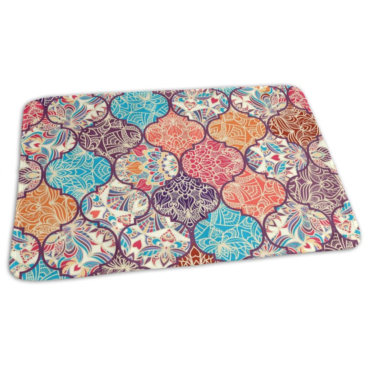 Osvbs Lovely Baby Reusable Waterproof Portable Colour Mosaic Turkish Style Ottoman Patterns Changing Pad Home Travel 27.5''x19.7'' by Osvbs