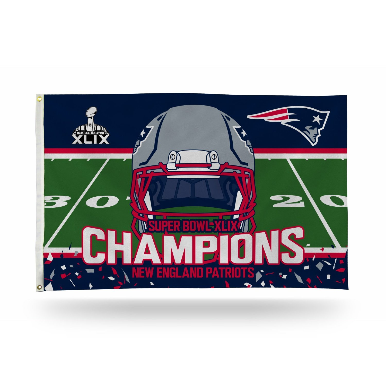 NFL新しいEngland Patriots Super Bowl XLIX ChampionバナーFlag、3 by 5フィート、ホワイト   B00SWIL7JA, BrandMax 26234288