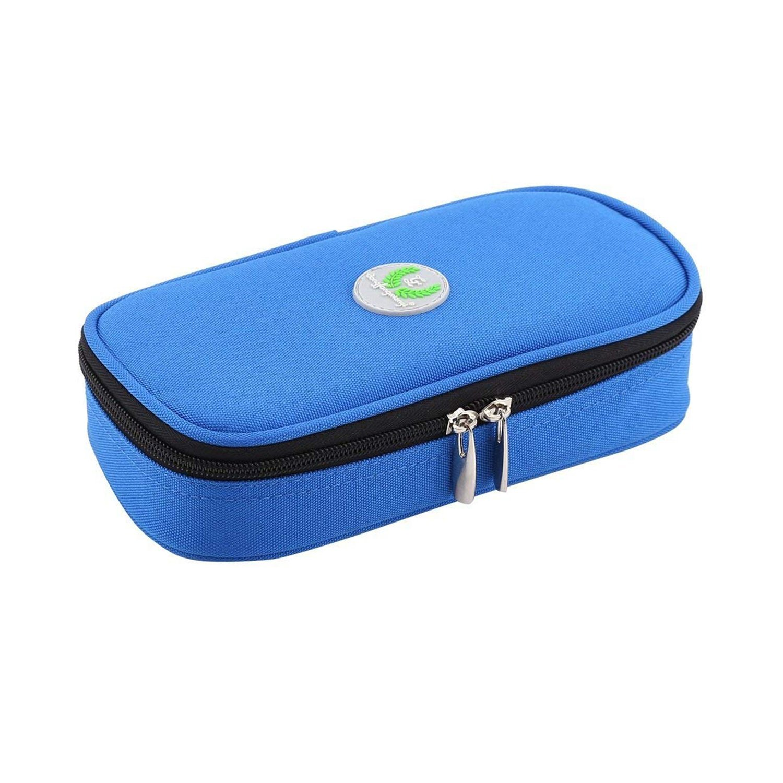 ONEGenug Temperature Display Epipen Carrier Insulin Cooler Travel Case Diabetics Medication Insulated Cooling Bag(Blue)
